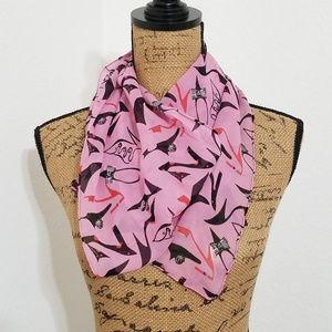 'shoe' graphic print scarf pink & black - BUNDLE!